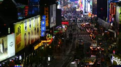 New York City, Manhattan, Broadway towards Times Square - stock footage