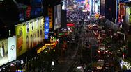 New York City, Manhattan, Broadway towards Times Square Stock Footage