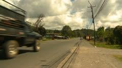 Traffic, Volcan, Panama Stock Footage