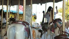 Slow motion of carousel - stock footage