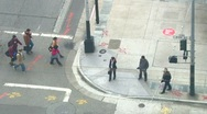 People at Crosswalk Stock Footage
