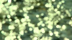 Soft focus sparkling water Stock Footage