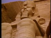 Stock Video Footage of Abu Simbel, one figure, still, medium shot