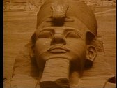 Stock Video Footage of Abu Simbel, one figure, still, close up of face