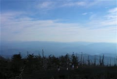 Clingmans Dome People Climbing Tower Sky Trail to Highest Point Stock Footage