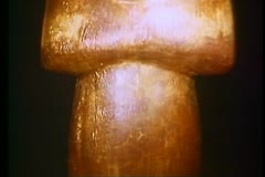 A gilt figure from the Tomb of King Tutankhamen 108430 Stock Footage