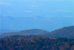 Clingmans Dome Telephoto Panning Shot of Countryside - stock footage