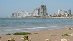 Tel Aviv Yaffa Beach Stock Footage