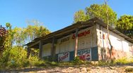 Abandoned store in rural area, Panama Stock Footage
