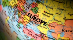 Europe. Terrestrial Globe. Stock Footage