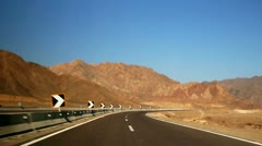 Desert road Stock Footage
