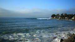 Rincon beach santa barbara Stock Footage