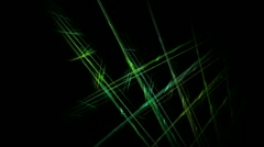 Mystical rotating green glass lines 1080 Stock Footage
