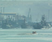 """Missile hovercraft """"Bora"""" Black Sea Fleet. #90 Stock Footage"""