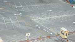 Empty parking Top angle Stock Footage
