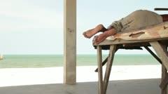 Beach lounging2 - stock footage