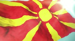 3d flag Macedonia Stock Footage