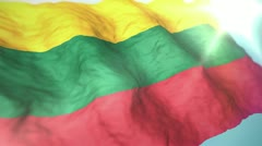 3d flag Lithuania Stock Footage
