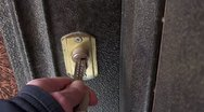 Stock Video Footage of Door lock openning with keys 2