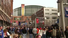 Downtown Indianapolis Stadium Super Bowl 46 Stock Footage