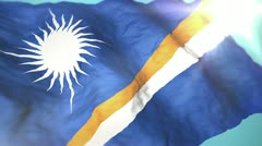 3d flag Marshall Islands Stock Footage