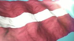3d flag Latvia Stock Footage