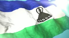 3d flag Lesotho Stock Footage