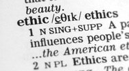 Stock Video Footage of Dictionary Definition - Ethics