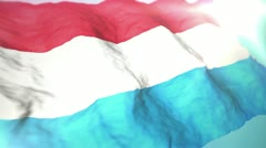 3d flag Luxembourg Stock Footage