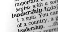 Stock Video Footage of Dictionary Definition - Leadership