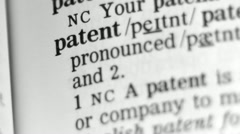 Stock Video Footage of Dictionary Definition - Patent