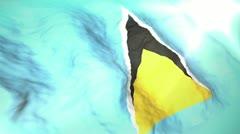 3d flag Saint Lucia Stock Footage