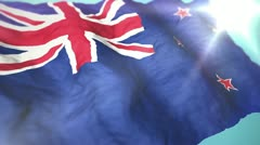3d flag New Zealand Stock Footage