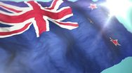 Stock Video Footage of 3d flag New Zealand