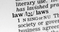 Stock Video Footage of Dictionary Definition - Law.