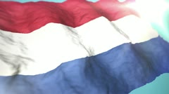 3d flag Netherlands Stock Footage