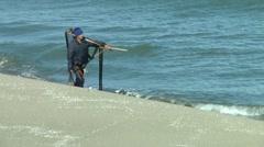 Sea, Fisherman. Stock Footage