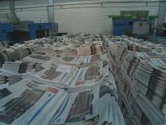 Newspapers rolls paper - stock footage