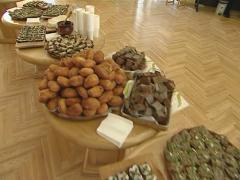 table food buffet - stock footage