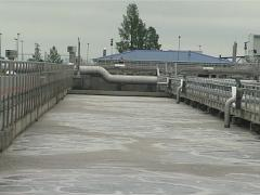 Water treatment equipment Stock Footage