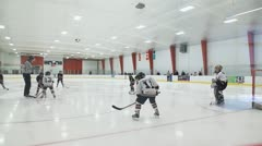 Minor Hockey Game Stock Footage