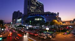 TIMELAPSE - MBK CENTER AT NIGHT Stock Footage