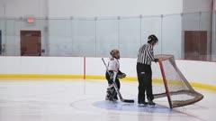 Minor Hockey Goalie Stock Footage