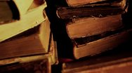 Stock Video Footage of Stack of old books
