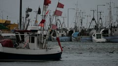 stormy Harbour in Denmark 2 - stock footage