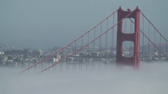 GoldenGateBridge with heat compression 1 - stock footage