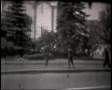 Montage of Moscow Kremlin churches clips, vintage b&w 8mm footage. Stock Footage