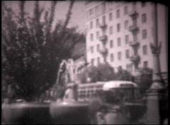 Kiev streets, vintage b&w 8mm footage Stock Footage