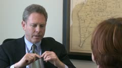 Employer lays off employee (1 of 2) Stock Footage
