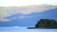 BC Ferry sails past Stock Footage